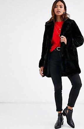 Pimkie faux fur longline coat in black