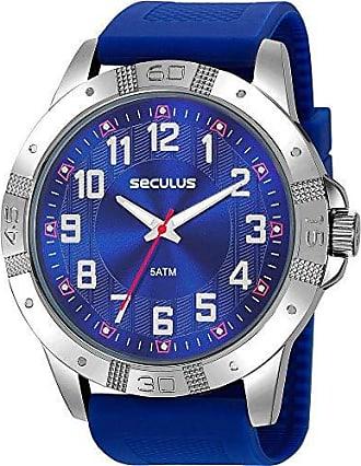 Seculus Relógio Seculus Masculino Azul 23663g0svni1 Analógico 5 Atm Cristal Mineral Tamanho Grande