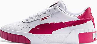 Puma Cali Brushed Womens Trainers, White/Cerise, size 3.5, Shoes