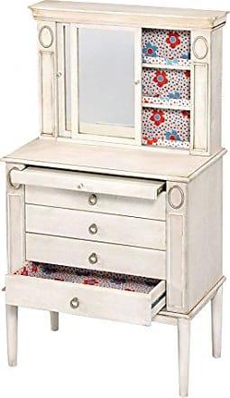ACME 97220 Leven Jewelry Armoire, Antique White