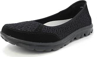 Boulevard Womens Ladies Lightweight Leather Mesh Shoes Pumps Memory Foam Black 6