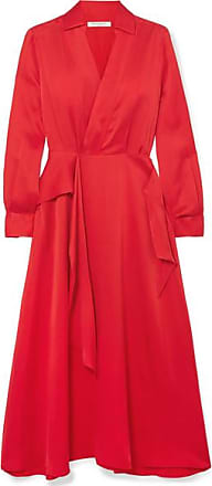 Equipment Vivienne Wrap-effect Silk-blend Dress - Red