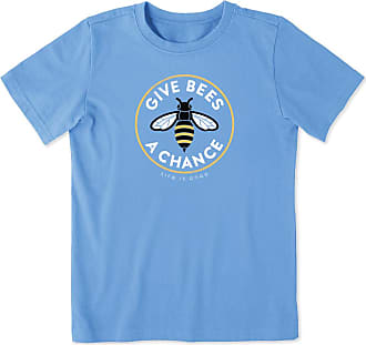 Life is good Boys Give Bees A Chance Crusher Tee XL Carolina Blue
