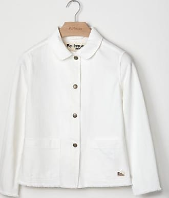 Roy Rogers giacca orna re issue in denim bull bianco