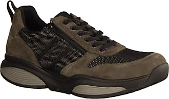 Xsensible SWX3 300731851 Grey / Black Trainers - Mens Trainers / Lace-up Shoes, Grey, Leather/Textile (Stretchleather) Grey Size: 10 UK