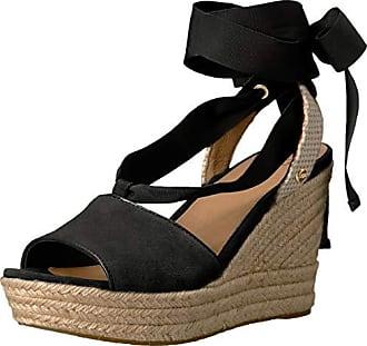 120fc10e8dd UGG Womens Shiloh Wedge Sandal Black 11 M US
