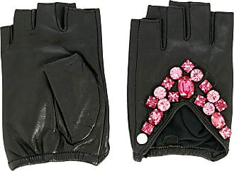 Karl Lagerfeld Par de luvas sem dedos K/Ikonik - Preto