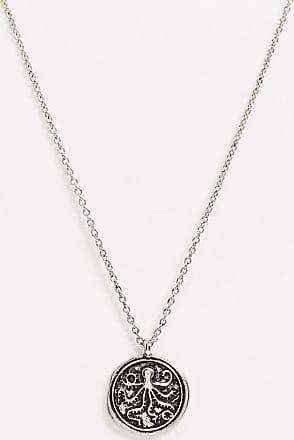 Topman Halskette in Silber mit Tintenfisch-Münzanhänger