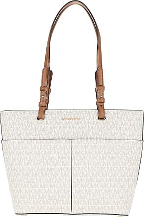 Michael Kors Tote - Bedford Medium Pocket Tote Bag Vanilla/Acorn - beige - Tote for ladies