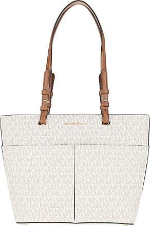 Michael Kors Bedford Medium Pocket Tote Bag Vanilla/Acorn