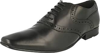 Base London Mens Formal Brogue Shoes Harry - Waxy Black Leather - UK Size 7 - EU Size 41 - US Size 8