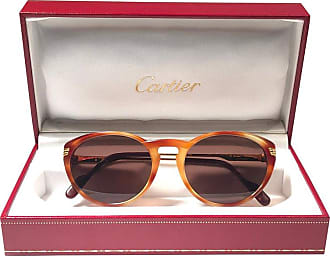 9b120fa64a2e Cartier New Vintage Cartier Aurore Dore Miel Sunglasses Brown France 18k  Gold 1991