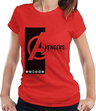MARVEL Avengers Endgame Avenger Symbols Womens T-Shirt Red