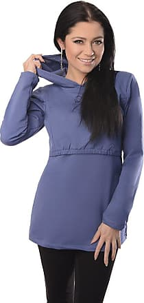 Purpless Maternity Pregnancy and Nursing Hoodie Top for Pregnant Breastfeeding Woman 9051 (16, Blue Jeans)