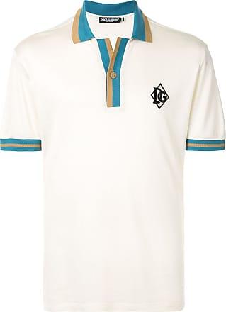 Dolce & Gabbana Camisa polo com bordado DG - Branco