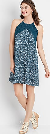 Maurices Floral Crocheted Trim Dress