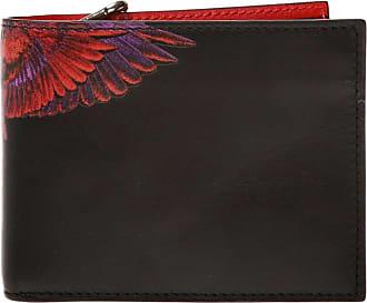 Marcelo Burlon Printed Leather Wallet Mens Black