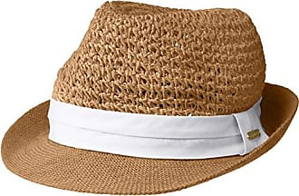 269bd80e743f0 Steve Madden Womens Paper Crochet Straw Fedora with Woven Band