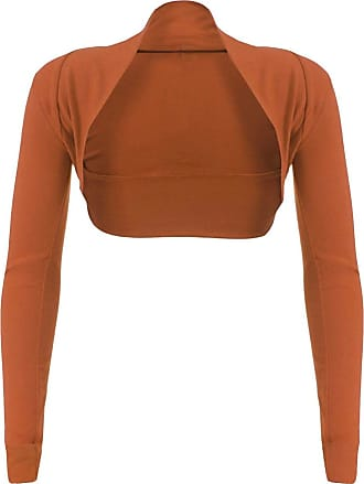 Top Fashion18 Top Fashion Womens Long Sleeve Ladies Short Cropped Open Shrug Bolero Cardigan Top UK Size 8-16