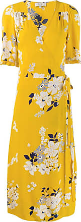 Sea New York floral print wrap dress - Yellow