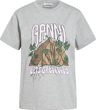 Ganni T-Shirt - GRAU/ HELLROSA/ BRAUN