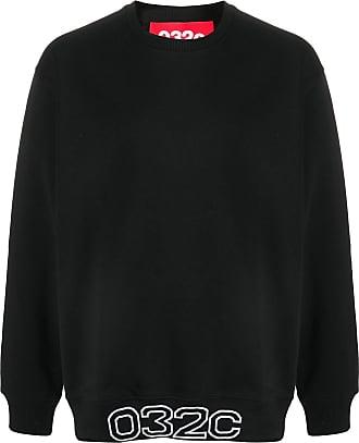 032c Oversized-Sweatshirt mit Logo - Schwarz