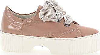 Attilio Giusti Leombruni Sneakers D925095 Plateau leather beige rosè shiny