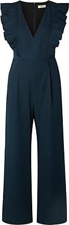 Sea New York Stevie Ruffled Cotton-blend Jumpsuit - Navy