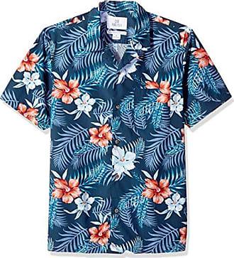 Hawaii camicia hawaii Hawaii Camicia viscosa arancione palme Hibiskus PAPPAGALLI