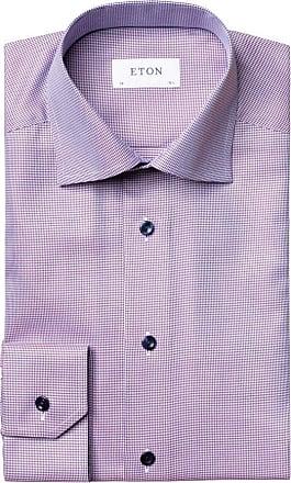 Eton Businesshemd mit dezentem Muster, Contemporary Fit von Eton in Bordeaux für Herren