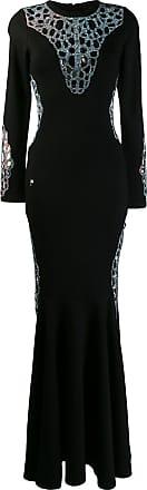 Philipp Plein Vestido longo de jersey - Preto