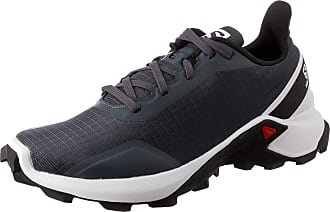 Salomon Salomon Womens Trail Running Shoes, ALPHACROSS W, Colour: Grey (India Ink/White/Black), Size: UK size 10.5