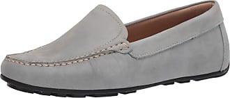 Driver Club USA Womens Leather Made in Brazil Driving Loafer with Venetian Detail, Baby Blue Nubuck/Contrast Stitch, 4.5 UK