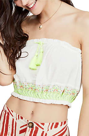 Free People Womens Ivory Sleeveless Strapless Crop Top Top Size: S