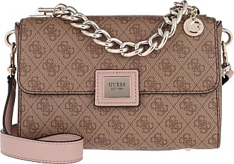 Guess Candace Top Handle Flap Bag Brown Multi
