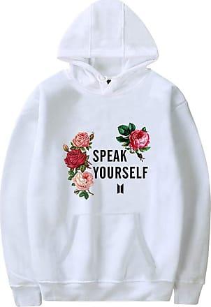 EUDOLAH Womens BTS World Tour Hoodies Speak Yourself JIN SUGA Jimin RM V JUNG KOOK J-Hope (UK 20-24 (Tag 4XL), White 86)