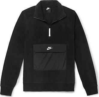 4cd34ef32b39 Nike Shell-trimmed Fleece Half-zip Sweatshirt - Black