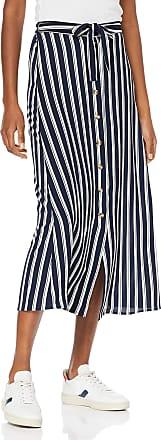 Vero Moda Womens Vmsasha Ancle Skirt Noos, Multicolour (Navy Blazer Stripes: Snow White Coco), 12 (Size: Medium)