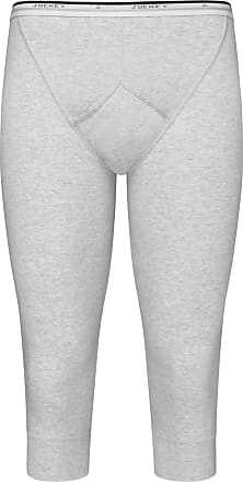 Jockey Mens Spurt 100% Cotton Y-Front Over Knee (Grey Marl/M)