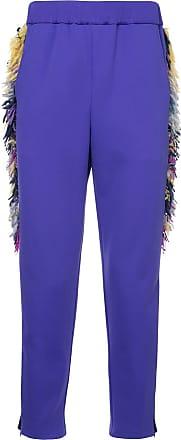 Yoshiokubo side fringe trousers - Purple
