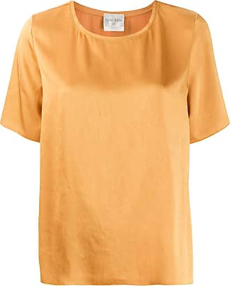 Forte_Forte short-sleeved loose-fit blouse - Yellow