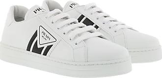 Prada Sneakers - Leather Sneakers White/Black - white - Sneakers for ladies