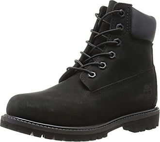 timberland noir smooth leather bottes