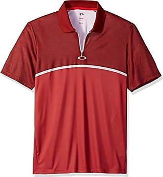 Oakley Mens Polo Shirt Ss Color Block Camou, red line, M