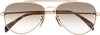 David Beckham Óculos de sol aviador em degradê - Marrom