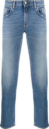 Department 5 Calça jeans slim Corkey cintura média - Azul