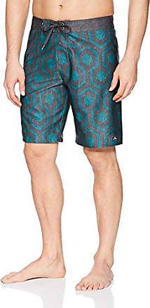 ONeill Mens Hyperfreak Scallop With Back Pocket Stretch Boardshort 31 ISLANDER BLACK