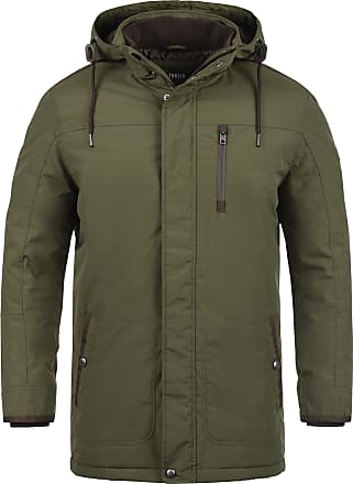 Solid Dempsey Mens Parka Outdoor Jacket Winter Coat with Hood, Size:M, Colour:Ivy Green (3797)