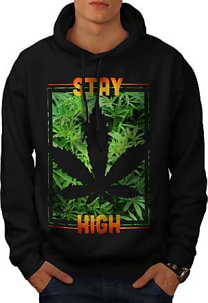 Wellcoda Toasted Day Weed Rasta Mens Contrast Hoodie Weed Casual Jumper