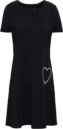 e7fd251af8 Love Moschino Love Moschino Woman Appliquéd Stretch-crepe Mini Dress Black  Size 40